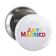 """Just Married (Gay) 2.25"""" Button (10 pack)"""
