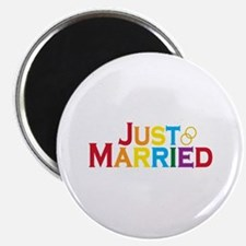 "Just Married (Gay) 2.25"" Magnet (10 pack)"