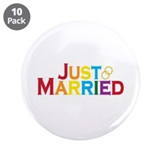 "Just Married (Gay) 3.5"" Button (10 pack)"