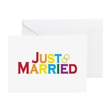 Just Married (Gay) Greeting Cards (Pk of 10)