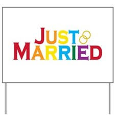 Just Married (Gay) Yard Sign