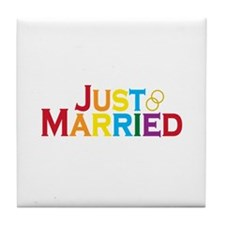 Just Married (Gay) Tile Coaster