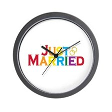 Just Married (Gay) Wall Clock