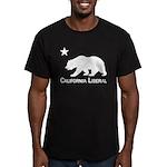 California Liberal Bear Men's Fitted T-Shirt (dark