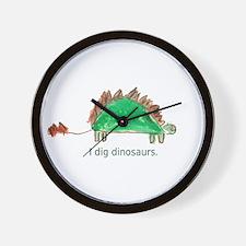 I dig dinosaurs. Wall Clock