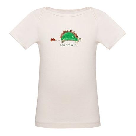I dig dinosaurs. Organic Baby T-Shirt