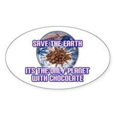 Save Earth only planet with c Oval Decal