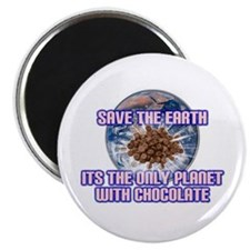 "Save Earth only planet with c 2.25"" Magnet (1"