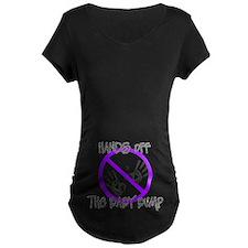Hands off the baby bump Mty Dk T-Shirt (purple)