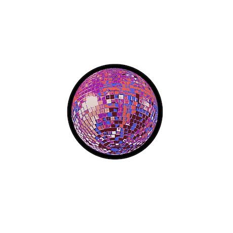 Pink Disco Ball Mini Button