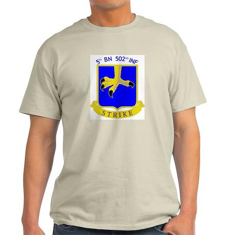 5/502 INF Ash Grey T-Shirt
