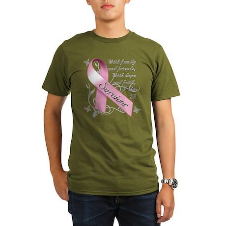 Breast Cancer Survivor Organic Men's T-Shirt (dark