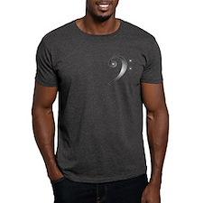 """""""Metallic"""" Bass Clef T-Shirt"""
