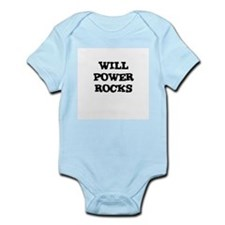 WILL POWER ROCKS Infant Creeper