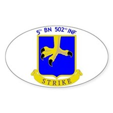 5/502 INF Oval Decal