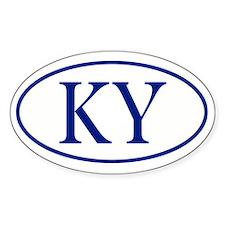 KY Oval sticker