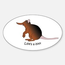 Giant Elephant Shrew Oval Decal