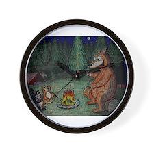 Campfire Ghoststory Wall Clock
