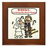 50th wedding anniversary gifts Framed Tiles