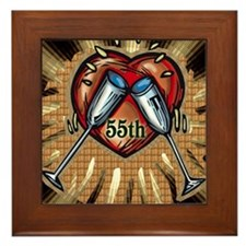 55th Wedding Anniversary Framed Tile