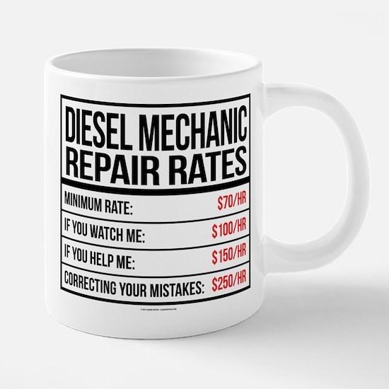 Diesel Mechanic Repair Rate 20 oz Ceramic Mega Mug