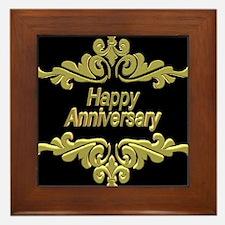 Happy Anniversary Framed Tile