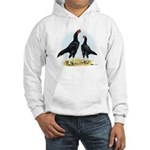 Shamo Rooster and Hen Hooded Sweatshirt