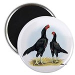 Shamo Rooster and Hen Magnet