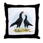 Shamo Rooster and Hen Throw Pillow