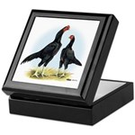 Shamo Rooster and Hen Keepsake Box