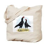 Shamo Rooster and Hen Tote Bag