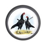 Shamo Rooster and Hen Wall Clock