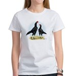 Shamo Rooster and Hen Women's T-Shirt