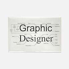 Graphic Designer Rectangle Magnet