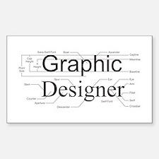 Graphic Designer Rectangle Decal