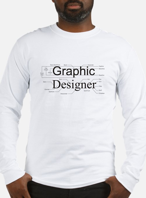 Graphic Designer Long Sleeve T-Shirt