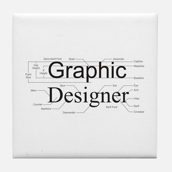 Graphic Designer Tile Coaster