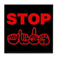 Stop AIDS Tile Coaster