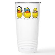 No Evil Ducks Travel Coffee Mug