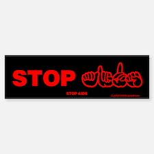 Stop AIDS Bumper Bumper Bumper Sticker