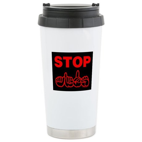 Stop AIDS Stainless Steel Travel Mug