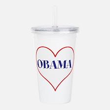 I love Obama Acrylic Double-wall Tumbler