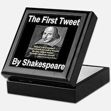 The First Tweet By William Sh Keepsake Box