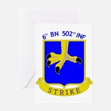 6/502 INF Greeting Cards (Pk of 10)