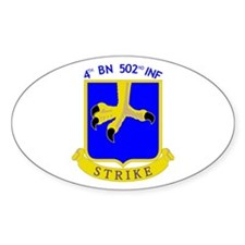 4/502 INF Oval Decal