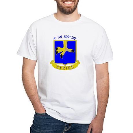 4/502 INF White T-Shirt