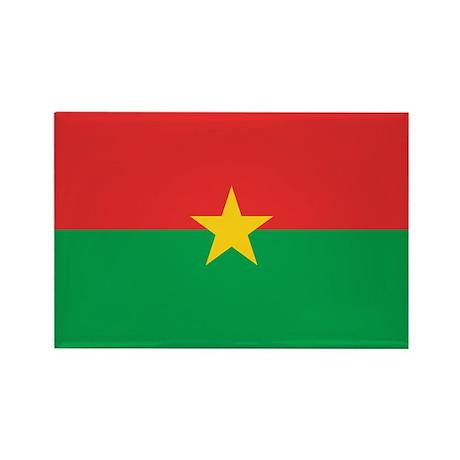Burkina Faso Flag Rectangle Magnet (10 pack)