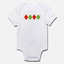 Christmas Argyle Infant Creeper