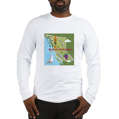 British Columbia Map Long Sleeve T-Shirt