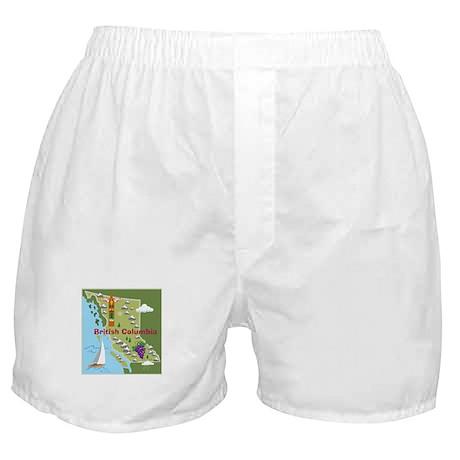 British Columbia Map Boxer Shorts
